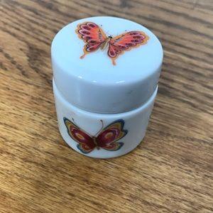 Vintage Accents - Porcelain Butterfly Trinket Box